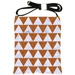 TRIANGLE2 WHITE MARBLE & RUSTED METAL Shoulder Sling Bags Front