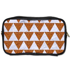 Triangle2 White Marble & Rusted Metal Toiletries Bags