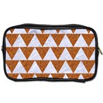 TRIANGLE2 WHITE MARBLE & RUSTED METAL Toiletries Bags 2-Side Front