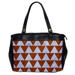 Triangle2 White Marble & Rusted Metal Office Handbags