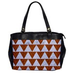 TRIANGLE2 WHITE MARBLE & RUSTED METAL Office Handbags Front