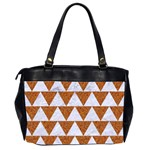 TRIANGLE2 WHITE MARBLE & RUSTED METAL Office Handbags (2 Sides)  Back