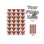 TRIANGLE2 WHITE MARBLE & RUSTED METAL Playing Cards 54 (Mini)  Front - Heart4