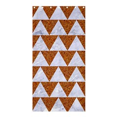 Triangle2 White Marble & Rusted Metal Shower Curtain 36  X 72  (stall)