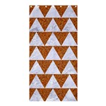 TRIANGLE2 WHITE MARBLE & RUSTED METAL Shower Curtain 36  x 72  (Stall)  33.26 x66.24 Curtain