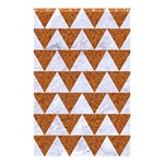TRIANGLE2 WHITE MARBLE & RUSTED METAL Shower Curtain 48  x 72  (Small)  42.18 x64.8 Curtain