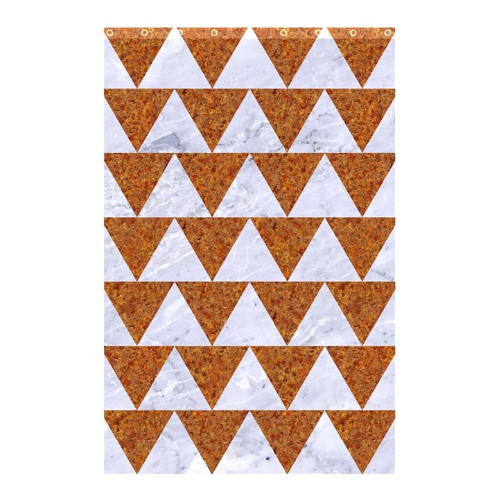 TRIANGLE2 WHITE MARBLE & RUSTED METAL Shower Curtain 48  x 72  (Small)