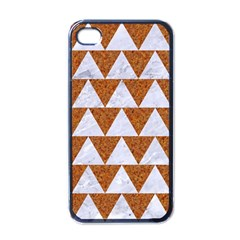 Triangle2 White Marble & Rusted Metal Apple Iphone 4 Case (black)