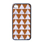 TRIANGLE2 WHITE MARBLE & RUSTED METAL Apple iPhone 4 Case (Black) Front