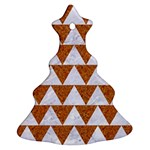 TRIANGLE2 WHITE MARBLE & RUSTED METAL Ornament (Christmas Tree)  Front