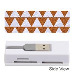 TRIANGLE2 WHITE MARBLE & RUSTED METAL Memory Card Reader (Stick)  Front