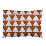 TRIANGLE2 WHITE MARBLE & RUSTED METAL Pillow Case (Two Sides) Front