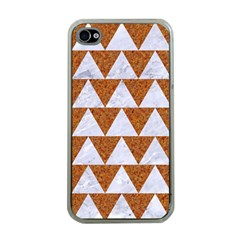 Triangle2 White Marble & Rusted Metal Apple Iphone 4 Case (clear)