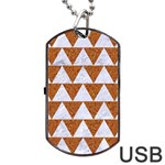 TRIANGLE2 WHITE MARBLE & RUSTED METAL Dog Tag USB Flash (Two Sides) Back