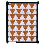 TRIANGLE2 WHITE MARBLE & RUSTED METAL Apple iPad 2 Case (Black) Front