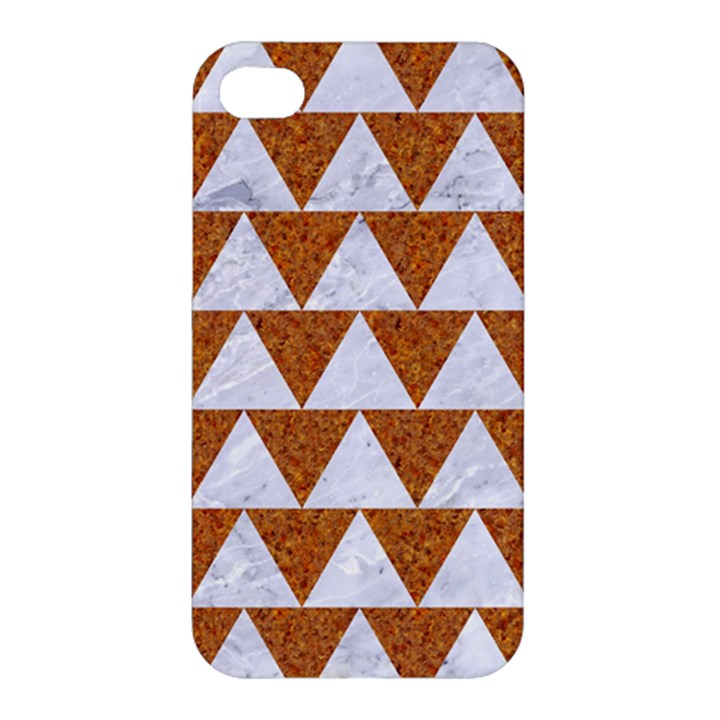 TRIANGLE2 WHITE MARBLE & RUSTED METAL Apple iPhone 4/4S Hardshell Case