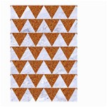 TRIANGLE2 WHITE MARBLE & RUSTED METAL Small Garden Flag (Two Sides) Back