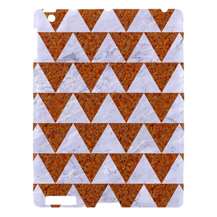 TRIANGLE2 WHITE MARBLE & RUSTED METAL Apple iPad 3/4 Hardshell Case