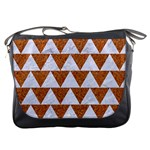 TRIANGLE2 WHITE MARBLE & RUSTED METAL Messenger Bags Front