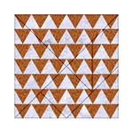 TRIANGLE2 WHITE MARBLE & RUSTED METAL Acrylic Tangram Puzzle (6  x 6 ) Front