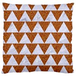 TRIANGLE2 WHITE MARBLE & RUSTED METAL Large Cushion Case (Two Sides) Front