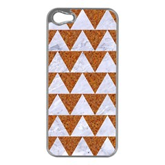Triangle2 White Marble & Rusted Metal Apple Iphone 5 Case (silver)