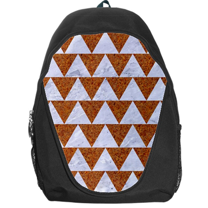 TRIANGLE2 WHITE MARBLE & RUSTED METAL Backpack Bag