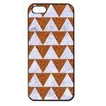 TRIANGLE2 WHITE MARBLE & RUSTED METAL Apple iPhone 5 Seamless Case (Black) Front