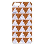 TRIANGLE2 WHITE MARBLE & RUSTED METAL Apple iPhone 5 Seamless Case (White) Front