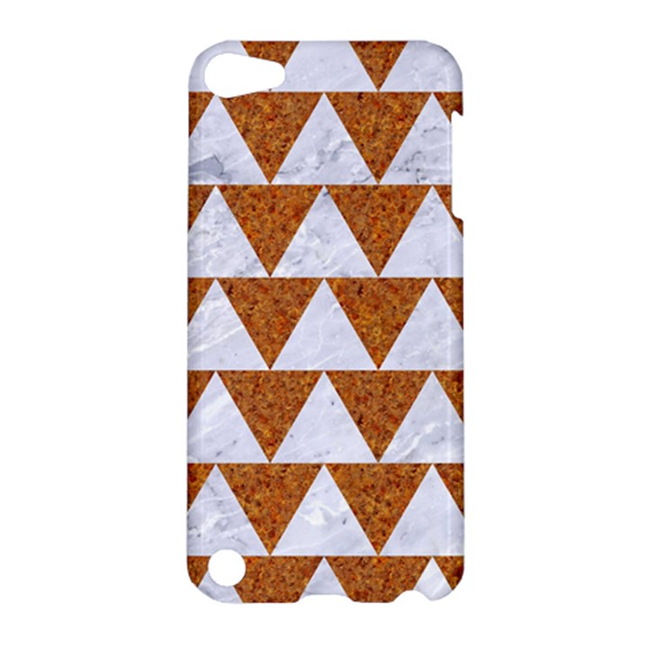 TRIANGLE2 WHITE MARBLE & RUSTED METAL Apple iPod Touch 5 Hardshell Case