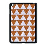 TRIANGLE2 WHITE MARBLE & RUSTED METAL Apple iPad Mini Case (Black) Front