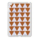 TRIANGLE2 WHITE MARBLE & RUSTED METAL Apple iPad Mini Case (White) Front