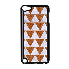 Triangle2 White Marble & Rusted Metal Apple Ipod Touch 5 Case (black)