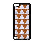 TRIANGLE2 WHITE MARBLE & RUSTED METAL Apple iPod Touch 5 Case (Black) Front