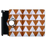 TRIANGLE2 WHITE MARBLE & RUSTED METAL Apple iPad 3/4 Flip 360 Case Front
