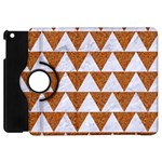 TRIANGLE2 WHITE MARBLE & RUSTED METAL Apple iPad Mini Flip 360 Case Front