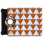 TRIANGLE2 WHITE MARBLE & RUSTED METAL Kindle Fire HD 7  Front