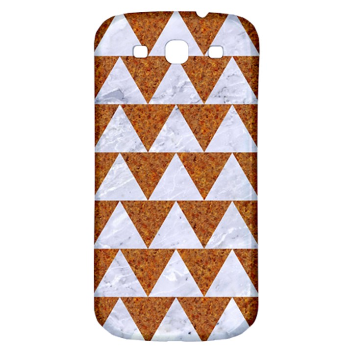 TRIANGLE2 WHITE MARBLE & RUSTED METAL Samsung Galaxy S3 S III Classic Hardshell Back Case