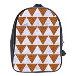 TRIANGLE2 WHITE MARBLE & RUSTED METAL School Bag (XL) Front
