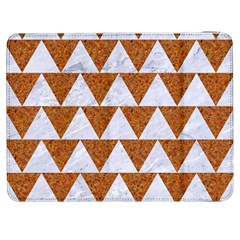 Triangle2 White Marble & Rusted Metal Samsung Galaxy Tab 7  P1000 Flip Case