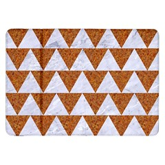 Triangle2 White Marble & Rusted Metal Samsung Galaxy Tab 8 9  P7300 Flip Case