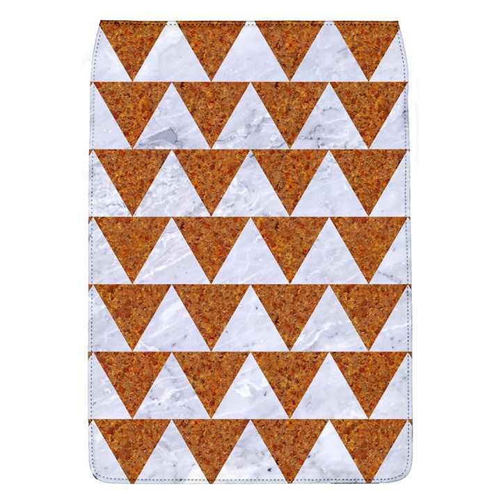 TRIANGLE2 WHITE MARBLE & RUSTED METAL Flap Covers (L)