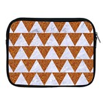 TRIANGLE2 WHITE MARBLE & RUSTED METAL Apple iPad 2/3/4 Zipper Cases Front