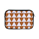 TRIANGLE2 WHITE MARBLE & RUSTED METAL Apple iPad Mini Zipper Cases Front