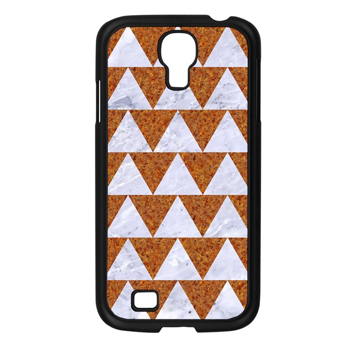 TRIANGLE2 WHITE MARBLE & RUSTED METAL Samsung Galaxy S4 I9500/ I9505 Case (Black)