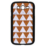 TRIANGLE2 WHITE MARBLE & RUSTED METAL Samsung Galaxy Grand DUOS I9082 Case (Black) Front