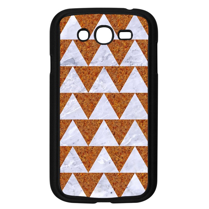 TRIANGLE2 WHITE MARBLE & RUSTED METAL Samsung Galaxy Grand DUOS I9082 Case (Black)