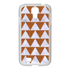Triangle2 White Marble & Rusted Metal Samsung Galaxy S4 I9500/ I9505 Case (white)
