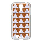 TRIANGLE2 WHITE MARBLE & RUSTED METAL Samsung GALAXY S4 I9500/ I9505 Case (White) Front