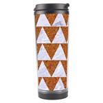 TRIANGLE2 WHITE MARBLE & RUSTED METAL Travel Tumbler Left